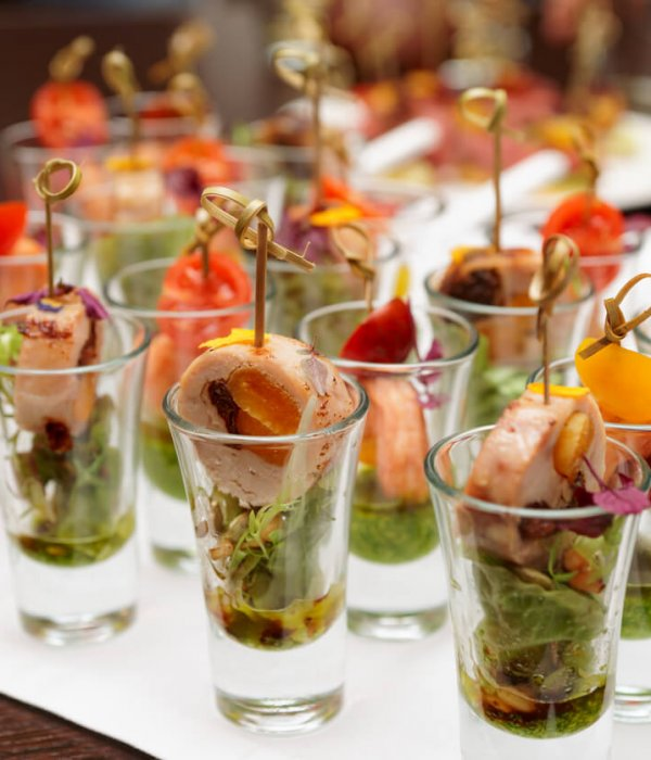Private Food Catering Home Catering Canapes in Glass Dish Catering