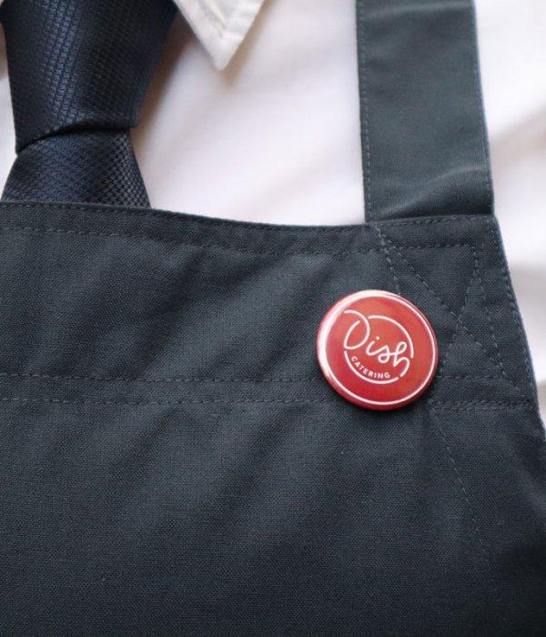 Dish Catering Uniform Badge Insignia Pin